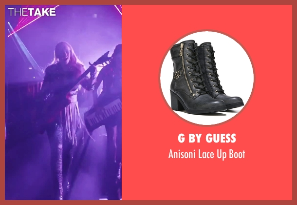G by Guess black boot from Jem and the Holograms seen with Aubrey Peeples (Jem)