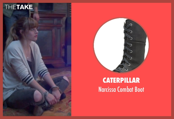 Caterpillar black boot from Jem and the Holograms seen with Aubrey Peeples (Jem)