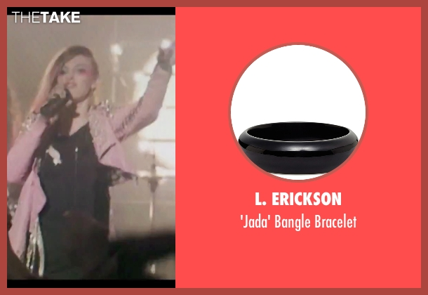L. Erickson black bracelet from Jem and the Holograms seen with Aubrey Peeples (Jem)