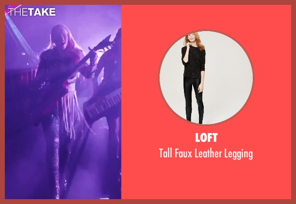 Loft black legging from Jem and the Holograms seen with Aubrey Peeples (Jem)