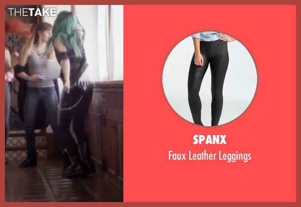 Spanx black leggings from Jem and the Holograms seen with Aubrey Peeples (Jem)