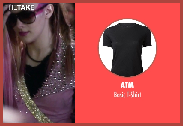 ATM black t-shirt from Jem and the Holograms seen with Aubrey Peeples (Jem)