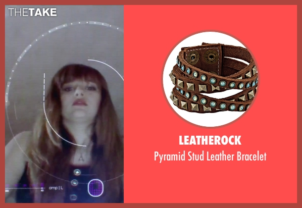 Leatherock brown bracelet from Jem and the Holograms seen with Aubrey Peeples (Jem)