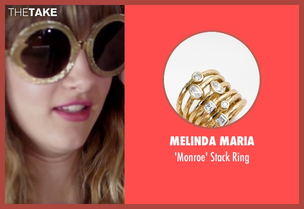 Melinda Maria gold ring from Jem and the Holograms seen with Aubrey Peeples (Jem)