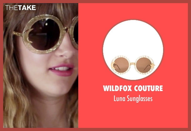Wildfox Couture gold sunglasses from Jem and the Holograms seen with Aubrey Peeples (Jem)