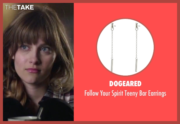 Dogeared silver earrings from Jem and the Holograms seen with Aubrey Peeples (Jem)