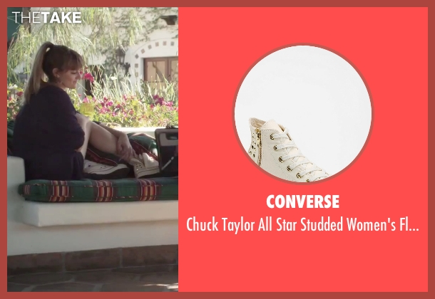 Converse white flatform-sneaker from Jem and the Holograms seen with Aubrey Peeples (Jem)