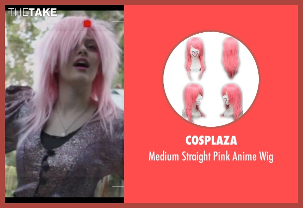 Cosplaza wig from Jem and the Holograms seen with Aubrey Peeples (Jem)