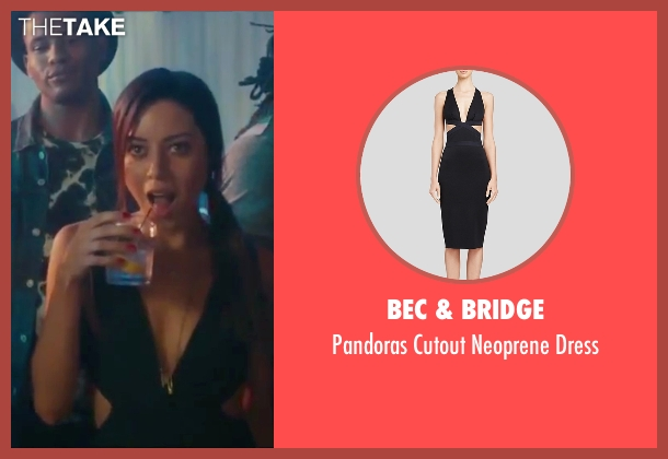 Bec & Bridge black dress from Dirty Grandpa seen with Aubrey Plaza (Lenore)