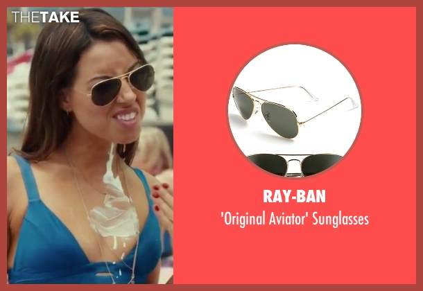 Ray-Ban gold sunglasses from Dirty Grandpa seen with Aubrey Plaza (Lenore)