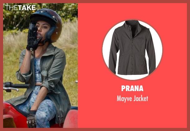 Prana gray jacket from Mike and Dave Need Wedding Dates seen with Aubrey Plaza (Tatiana)