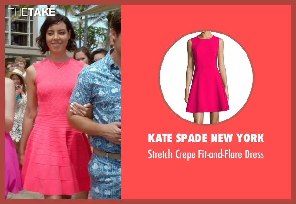 Kate Spade New York pink dress from Mike and Dave Need Wedding Dates seen with Aubrey Plaza (Tatiana)