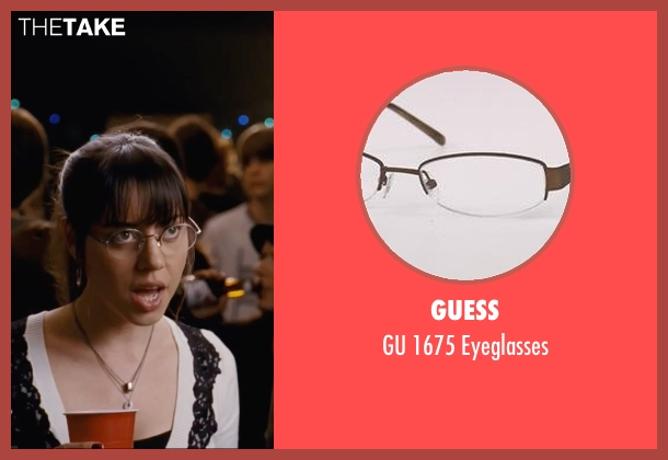Guess white eyeglasses from Scott Pilgrim Vs. The World seen with Aubrey Plaza (Julie Powers)
