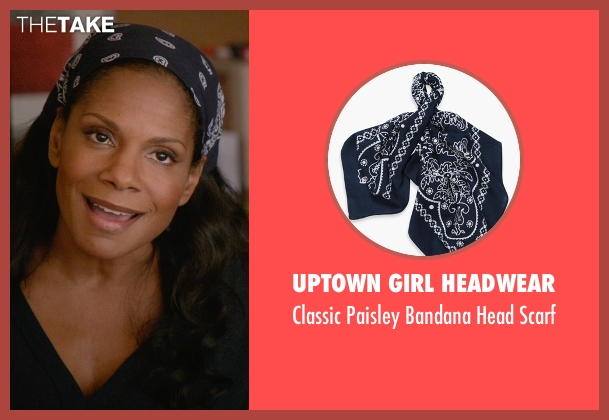 Uptown Girl Headwear blue scarf from Ricki and the Flash seen with Audra McDonald (Maureen)