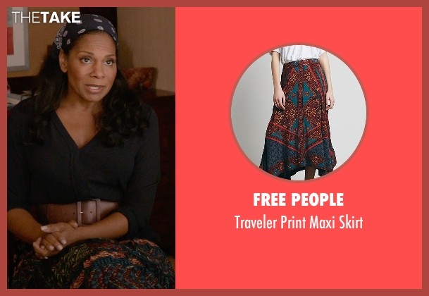 Free People blue skirt from Ricki and the Flash seen with Audra McDonald (Maureen)