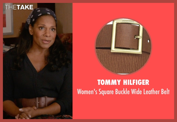 Tommy Hilfiger brown belt from Ricki and the Flash seen with Audra McDonald (Maureen)