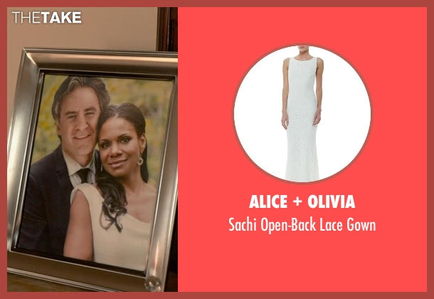 Alice + Olivia white gown from Ricki and the Flash seen with Audra McDonald (Maureen)