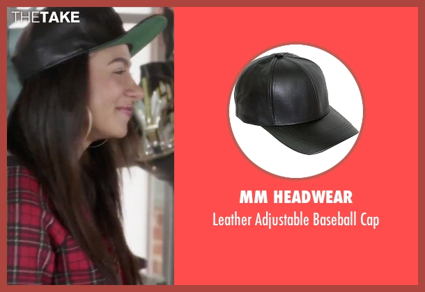 MM Headwear black cap from Jem and the Holograms seen with Aurora Perrineau (Shana Elmsford)