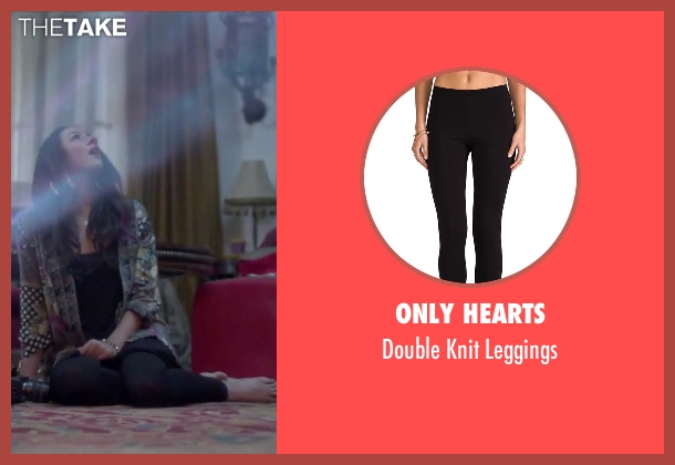Only Hearts black leggings from Jem and the Holograms seen with Aurora Perrineau (Shana Elmsford)