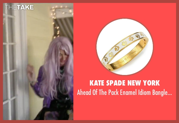 Kate Spade New York gold bracelet from Jem and the Holograms seen with Aurora Perrineau (Shana Elmsford)