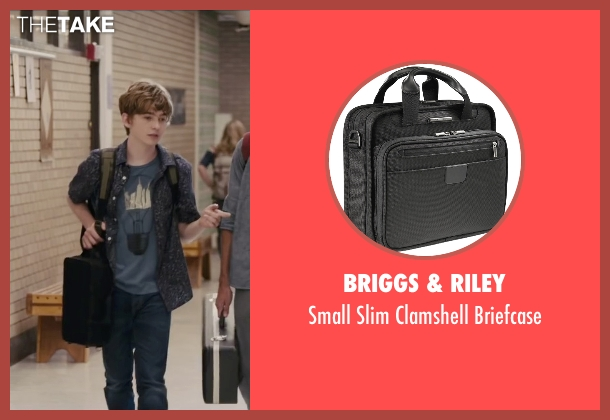Briggs & Riley black briefcase from Paper Towns seen with Austin Abrams (Ben Starling)