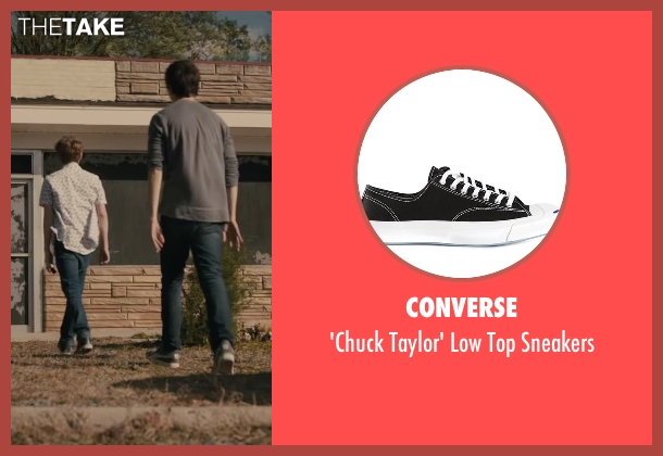 Converse black sneakers from Paper Towns seen with Austin Abrams (Ben Starling)