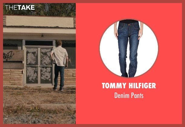 Tommy Hilfiger blue pants from Paper Towns seen with Austin Abrams (Ben Starling)