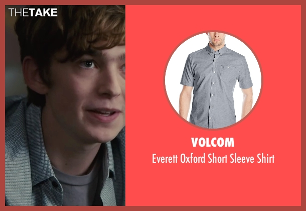 Volcom gray shirt from Paper Towns seen with Austin Abrams (Ben Starling)
