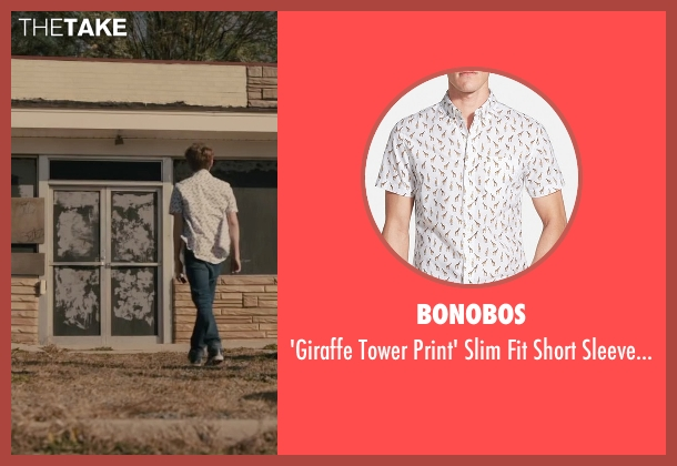 Bonobos white shirt from Paper Towns seen with Austin Abrams (Ben Starling)