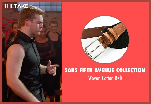 Saks Fifth Avenue Collection black belt from Pitch Perfect 2 seen with Austin Lyon (Frank)