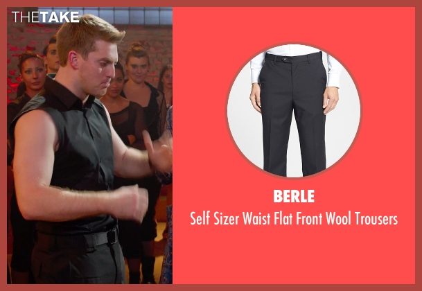 Berle black trousers from Pitch Perfect 2 seen with Austin Lyon (Frank)
