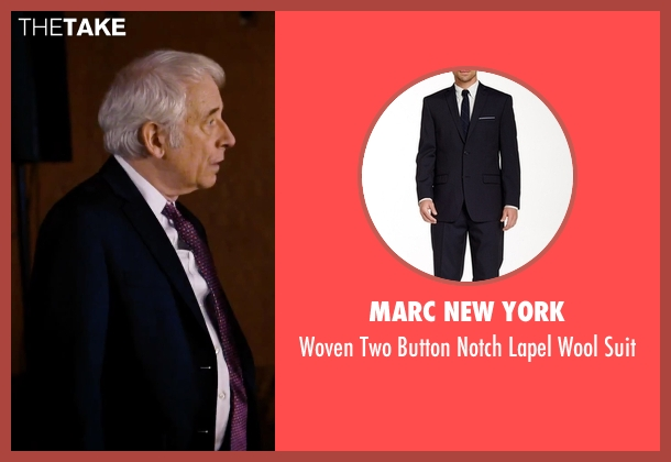 Marc New York blue suit from She's Funny That Way seen with Austin Pendleton (Judge Pendergast)