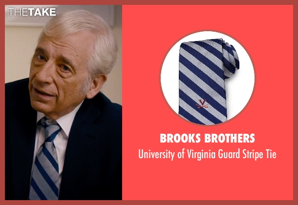 Brooks Brothers gray tie from She's Funny That Way seen with Austin Pendleton (Judge Pendergast)