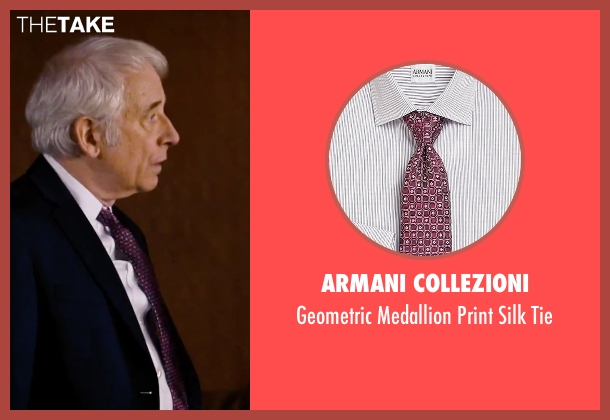 Armani Collezioni purple tie from She's Funny That Way seen with Austin Pendleton (Judge Pendergast)