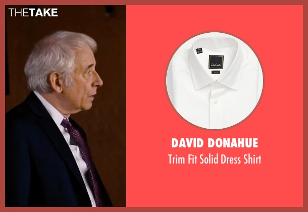 David Donahue white shirt from She's Funny That Way seen with Austin Pendleton (Judge Pendergast)