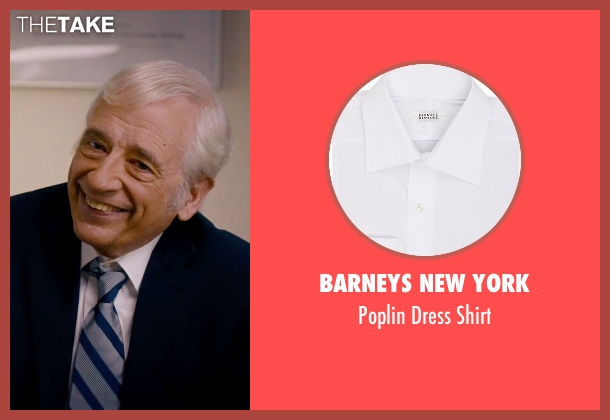 Barneys New York white shirt from She's Funny That Way seen with Austin Pendleton (Judge Pendergast)