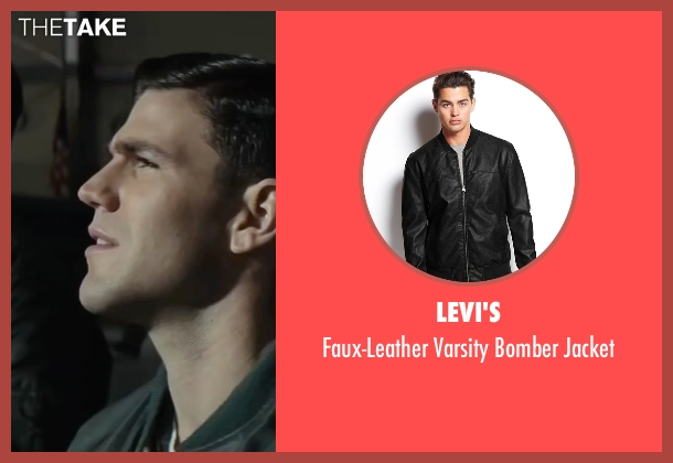 Levi's black jacket from Bridge of Spies seen with Austin Stowell (Francis Gary Powers)