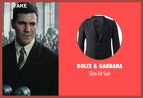 Dolce & Gabbana black suit from Bridge of Spies seen with Austin Stowell (Francis Gary Powers)