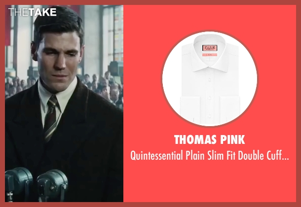 Thomas Pink white shirt from Bridge of Spies seen with Austin Stowell (Francis Gary Powers)
