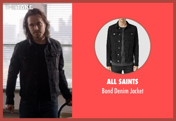 All Saints black jacket from Nashville seen with Avery Barkley  (Jonathan Jackson)