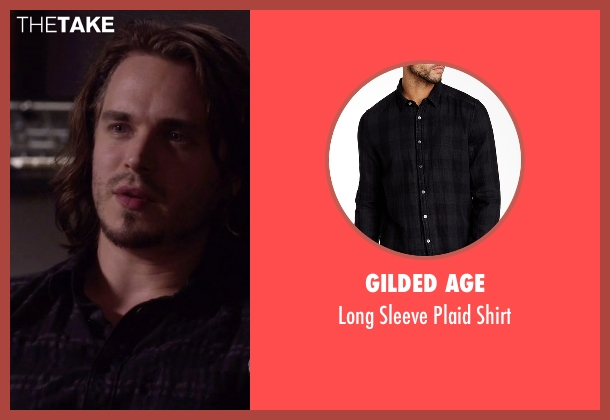 Gilded Age black shirt from Nashville seen with Avery Barkley  (Jonathan Jackson)