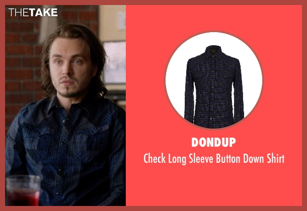 Dondup blue shirt from Nashville seen with Avery Barkley  (Jonathan Jackson)
