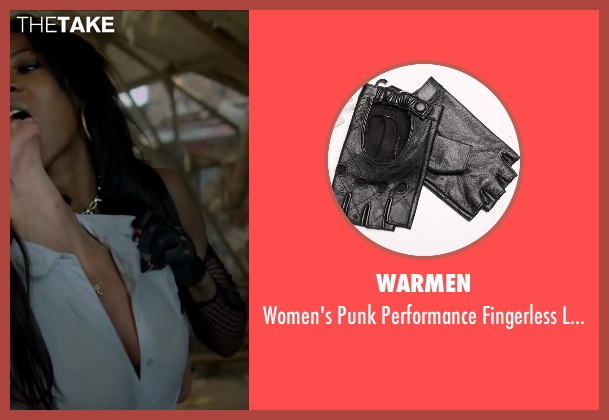 Warmen black gloves from Brick Mansions seen with Ayisha Issa (Rayzah)