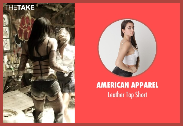 American Apparel black short from Brick Mansions seen with Ayisha Issa (Rayzah)