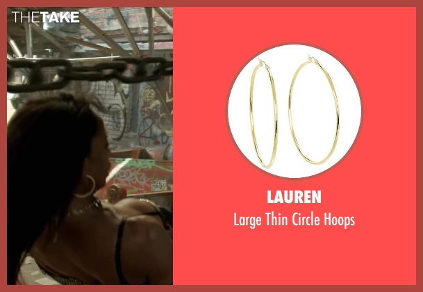 Lauren gold hoops from Brick Mansions seen with Ayisha Issa (Rayzah)