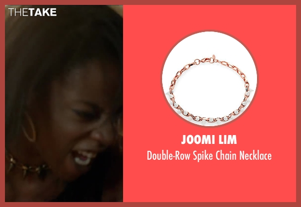 Joomi Lim necklace from Brick Mansions seen with Ayisha Issa (Rayzah)