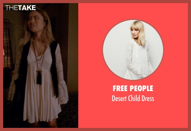 Free People white dress from American Horror Story seen with Babe (Jessica Lu)