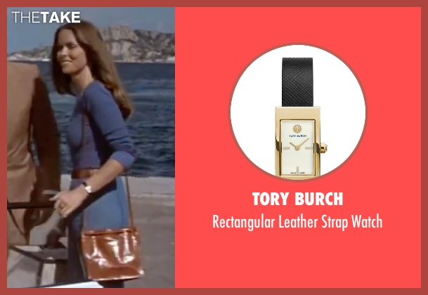 Tory Burch black watch from The Spy Who Loved Me seen with Barbara Bach (Major Anya Amasova / Agent XXX)