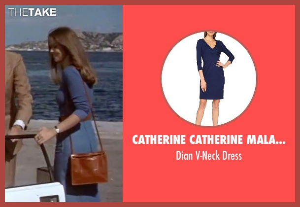 Catherine Catherine Malandrino blue dress from The Spy Who Loved Me seen with Barbara Bach (Major Anya Amasova / Agent XXX)
