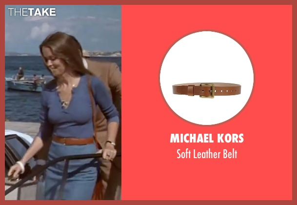Michael Kors brown belt from The Spy Who Loved Me seen with Barbara Bach (Major Anya Amasova / Agent XXX)